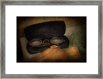 Optometrist - Glasses For Reading  Framed Print by Mike Savad