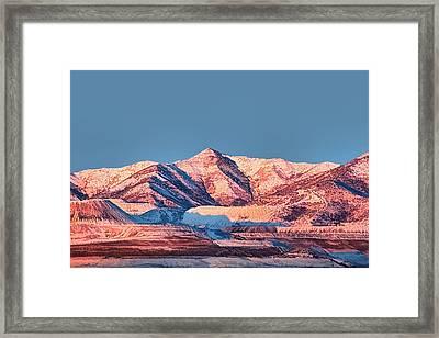 Oquirrh Mountains Utah First Snow Framed Print by Tracie Kaska