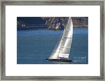 Oracle Racing Team Usa 76 International America's Cup Sailboat . 7d8069 Framed Print by Wingsdomain Art and Photography