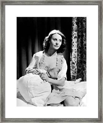 Orage, Michele Morgan, 1938 Framed Print