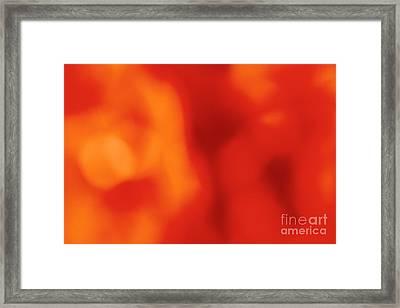 Orange Abstract Framed Print by Gaspar Avila