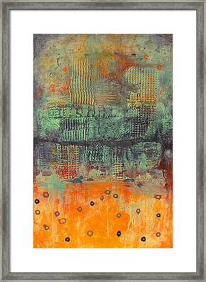 Orange Abstract Framed Print by Lolita Bronzini