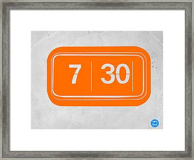 Orange Alarm Framed Print