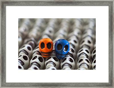 Orange And Blue Framed Print by Mike Herdering