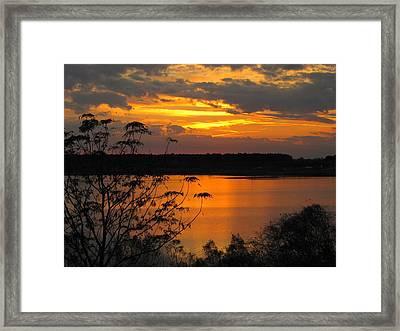 Orange Blue Sunset Framed Print