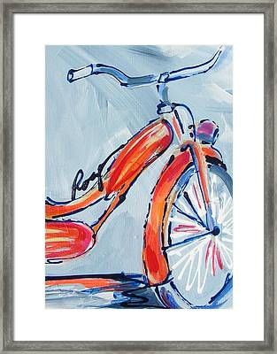 Orange Boomer Bike Framed Print