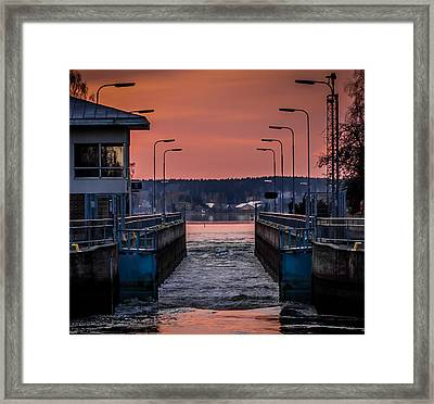 Framed Print featuring the photograph Orange Canal by Matti Ollikainen