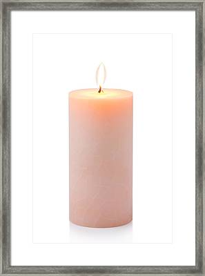 Orange Candle Framed Print