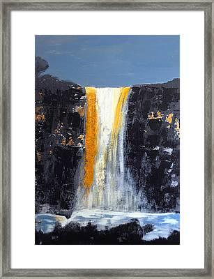 Orange Cascade Framed Print by Rob Heath