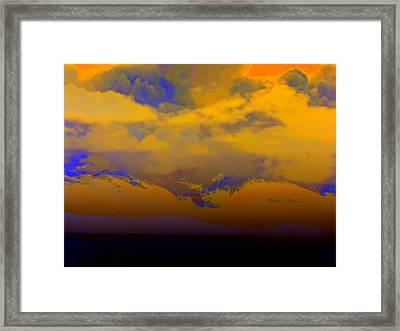 Orange Clouds Framed Print