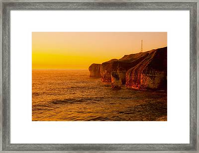 Orange Dusk Framed Print by Svetlana Sewell