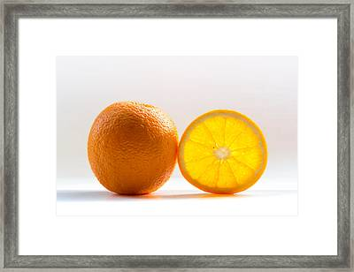 Orange Fruit Composition Framed Print by by Felix Schmidt