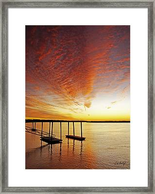 Orange Glow Framed Print by Phill Doherty