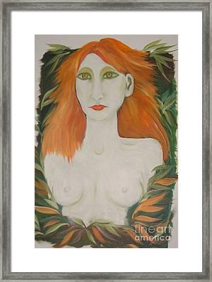 Orange Hair Framed Print by Rachel Carmichael
