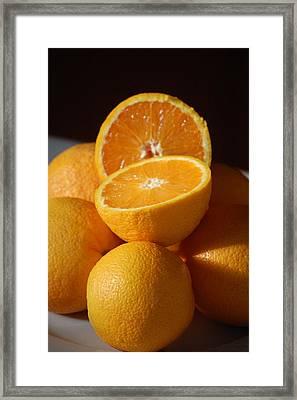 Orange Halves Framed Print by Dickon Thompson