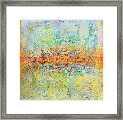 Framed Print featuring the painting Orange Interference by Lolita Bronzini