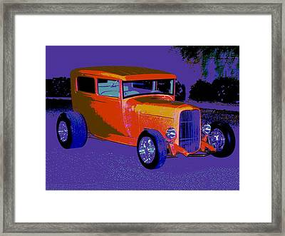 Orange Is Royal Framed Print by Chuck Re
