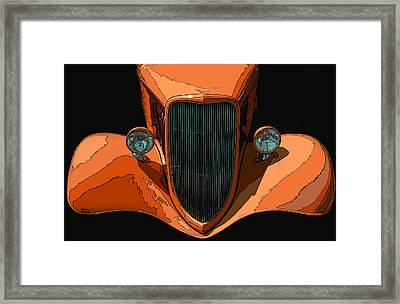 Orange Jalopy Framed Print