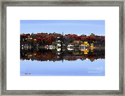 Orange Lake Framed Print by Dale   Ford