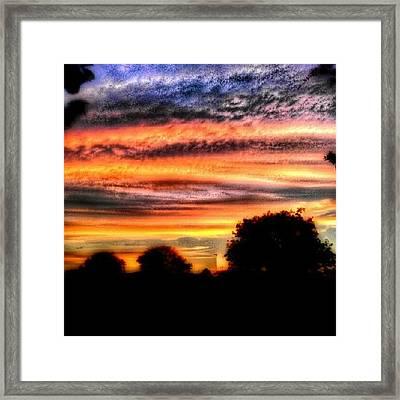 Orange Layers Framed Print