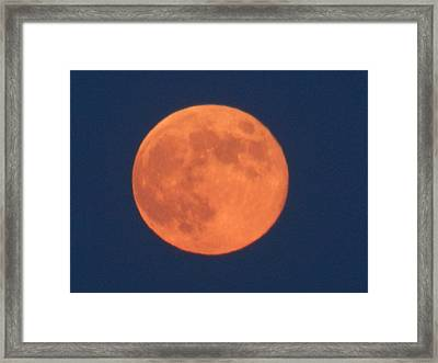 Orange Moon Framed Print by Dennis Leatherman