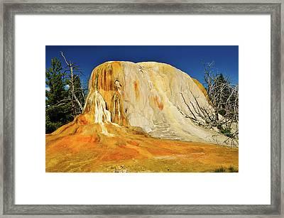 Orange Mound Framed Print