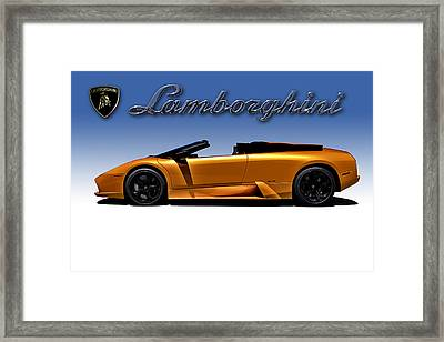 Orange Murcielago Framed Print by Douglas Pittman