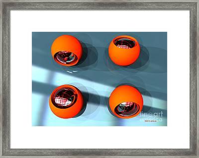 Orange Orbs Hdri Framed Print