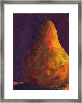 Orange Pear Framed Print by Rosie Phillips