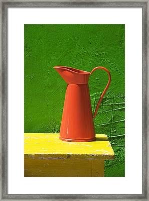 Orange Pitcher Framed Print by Garry Gay