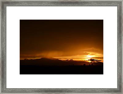 Orange Rain Framed Print