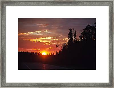Orange Sky Framed Print
