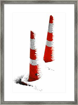 Framed Print featuring the digital art Orange Snow Cones by Steve Taylor