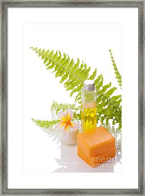 Orange Soaps Framed Print by Atiketta Sangasaeng