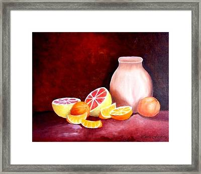 Orange Still Life Framed Print by Carola Ann-Margret Forsberg