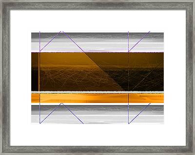 Orange Stripe Framed Print
