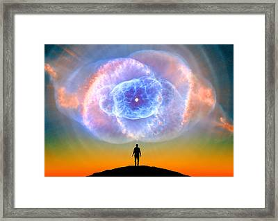 Orange Super Nova Framed Print