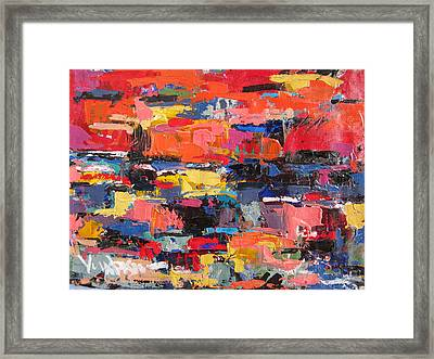 Orange Talamone Italy Framed Print