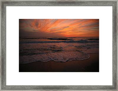 Orange To The End Framed Print
