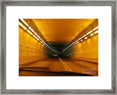 Orange Tunnel In Dc Framed Print by Ausra Huntington nee Paulauskaite