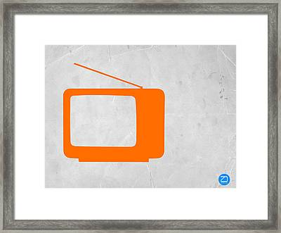 Orange Tv Vintage Framed Print by Naxart Studio