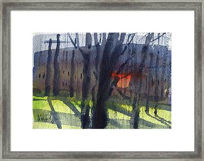 Orange Window Framed Print by Donald Maier