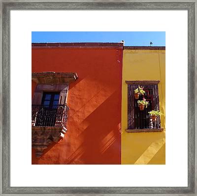 Orange Yellow Blue 2 Framed Print by Anthony George