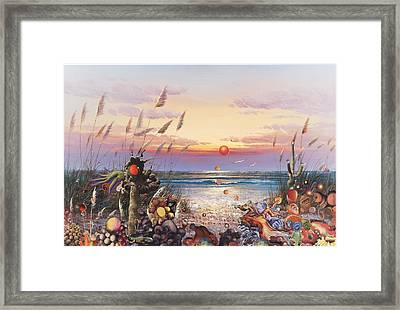 Orangerise At Gila Gorilla Beach Framed Print