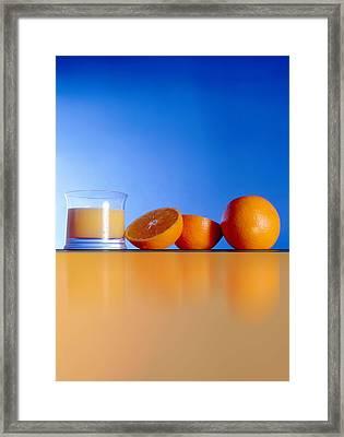 Oranges And Orange Juice Framed Print