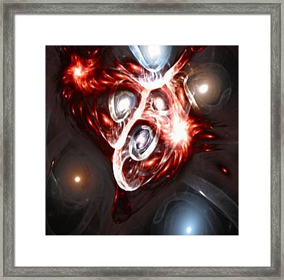 Orbit Explosion - A Fractal Design Framed Print by Gina Lee Manley
