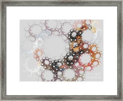 Framed Print featuring the digital art Orbital by Kim Sy Ok