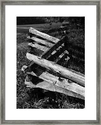 Orchardfence Framed Print by Curtis J Neeley Jr