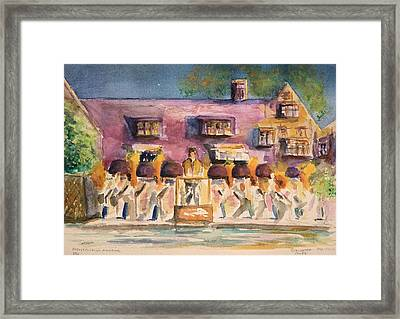 Framed Print featuring the painting Orchestra Evening Gala At Ford House  by Bernadette Krupa