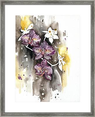 Orchid 13 Elena Yakubovich Framed Print by Elena Yakubovich
